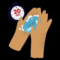 Covid19 lavado de manos con textura