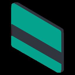 Tarjeta de crédito al revés isométrica