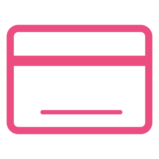 Credit card icon stroke pink