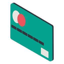Isométrica de la tarjeta de crédito