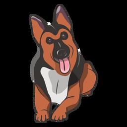Ilustración linda del perro de pastor alemán