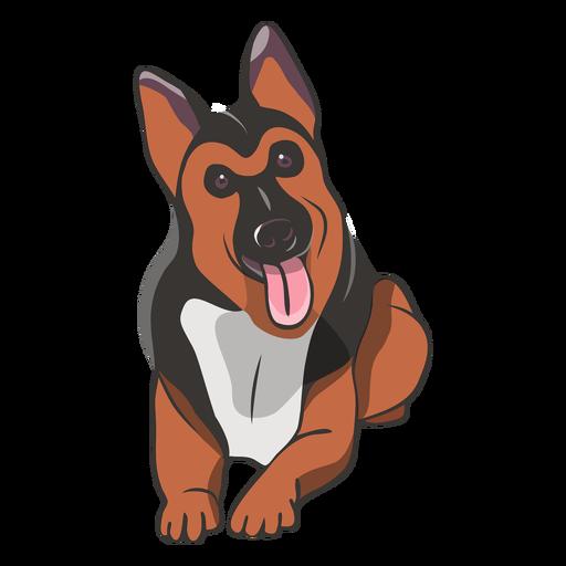 Cute german shepherd dog illustration