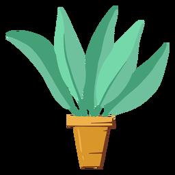 Ilustração de planta de casa fofa