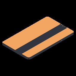 Tarjeta de débito al revés isométrica