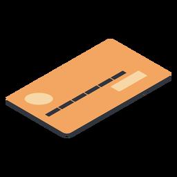 Tarjeta de débito isométrica