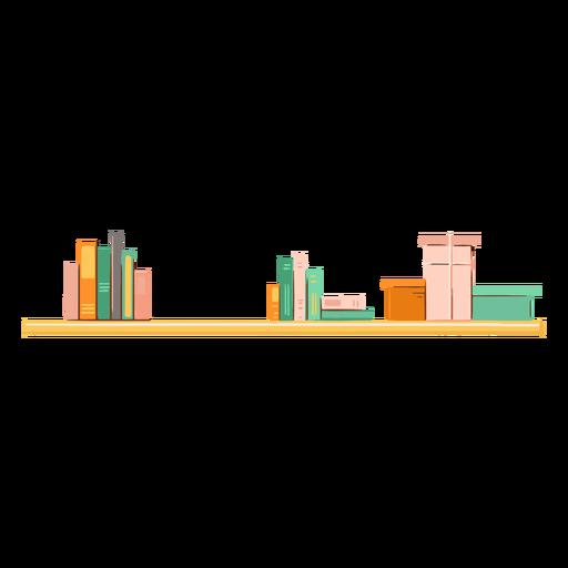 Decorative bookcase flat