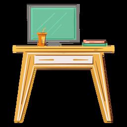 Computadora de escritorio plana