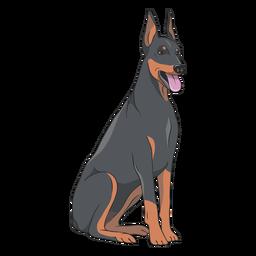Doberman dog illustration