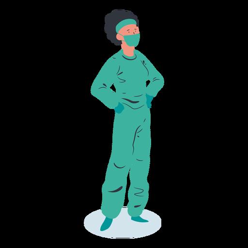 Doctor mujer personaje isométrico