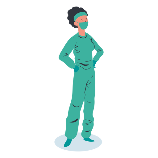 Doctor woman character isometric Transparent PNG