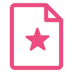 Document icon stroke pink