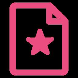 Icono de documento trazo rosa
