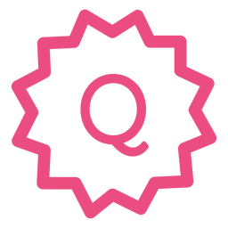 Ecommerce q icon stroke pink