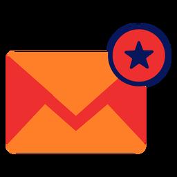 Ícone de e-mail plana