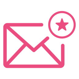 Trazo de icono de correo electrónico