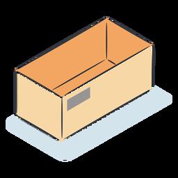 Caja vacía isométrica