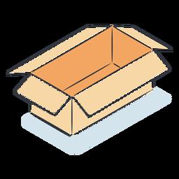 Caja de cartón vacía isométrica