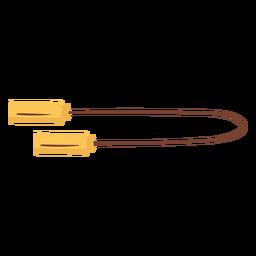Cuerda de ejercicio plana