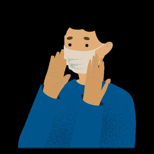 Facemask man character Transparent PNG
