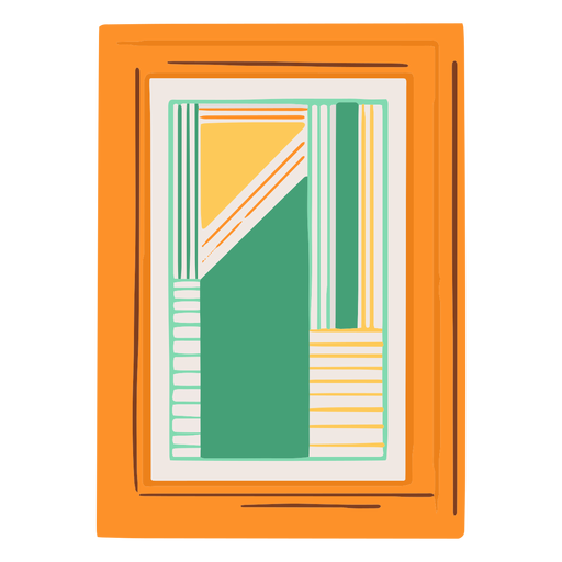 Flat framed abstract picture