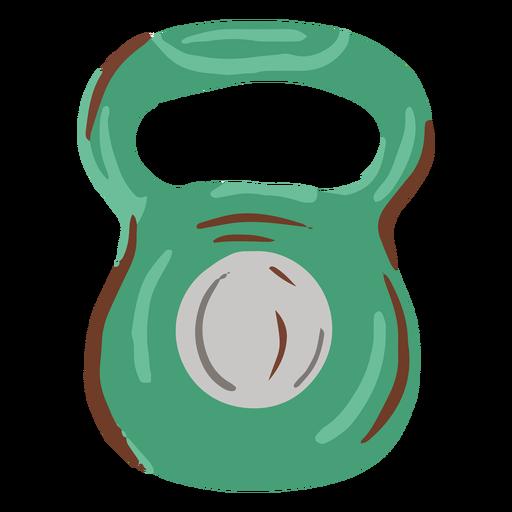 Flat kettleball weight