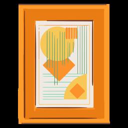 Cuadro abstracto enmarcado plano