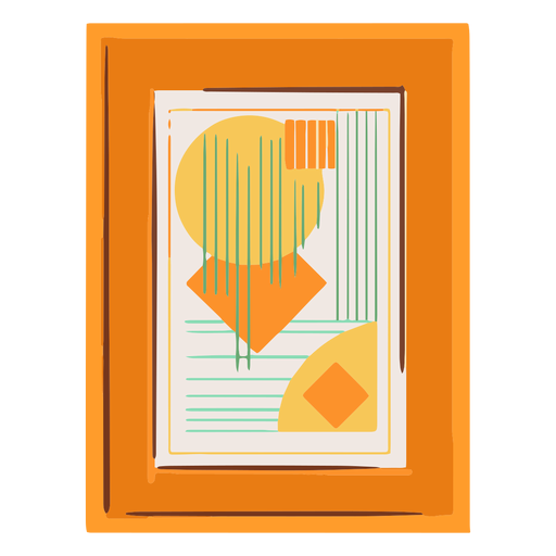 Framed abstract picture flat