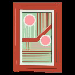 Cuadro abstracto enmarcado dibujado a mano