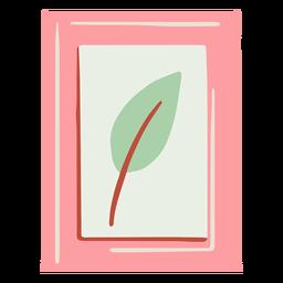 Framed leaf picture hand drawn
