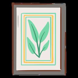 Cuadro de planta enmarcado plano