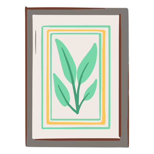 Framed plant picture flat