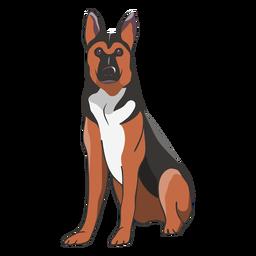 Ilustración de perro pastor alemán