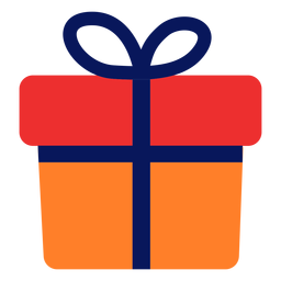 Gift icon flat