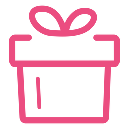 Gift icon stroke pink