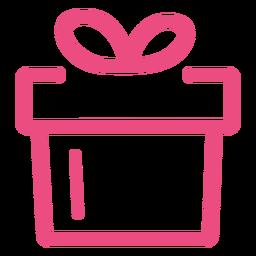 Icono de regalo trazo rosa