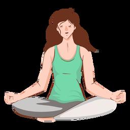 Chica meditando personaje