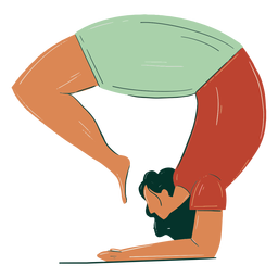 Dibujado a mano niña estirando