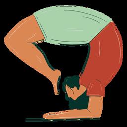 Girl stretching hand drawn