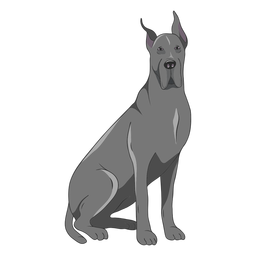 Great dane dog illustration