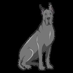 Ilustración de perro gran danés