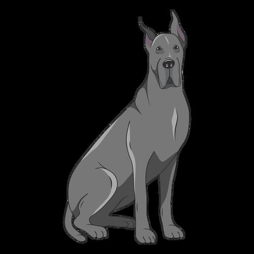 Great dane dog illustration