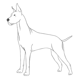 Golpe lateral de perro gran danés