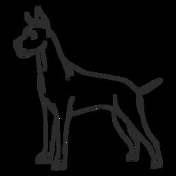 Golpe lateral del perro gran danés