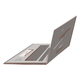 Grey laptop flat