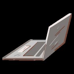 Portátil gris plano