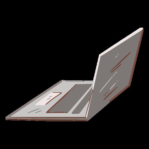 Grey laptop flat