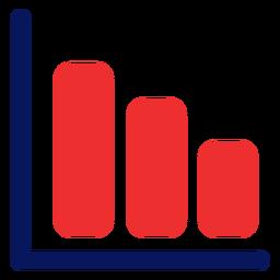Icono gráfico creciente