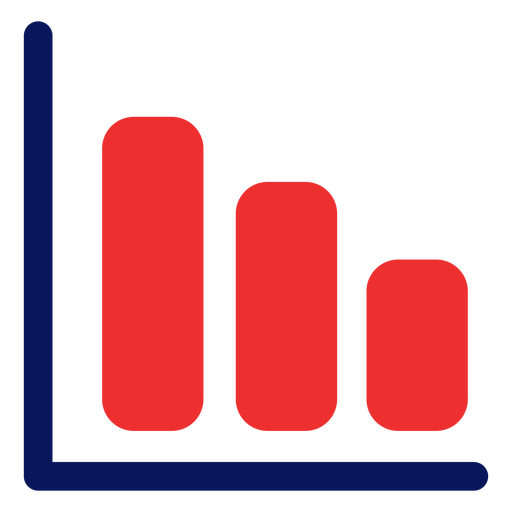 Growing graph icon Transparent PNG