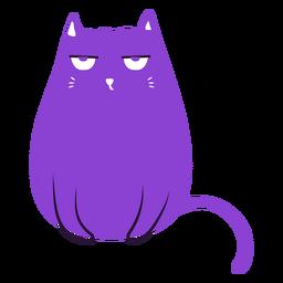 Gato mal-humorado plana