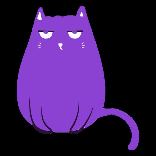 Grumpy cat flat Transparent PNG